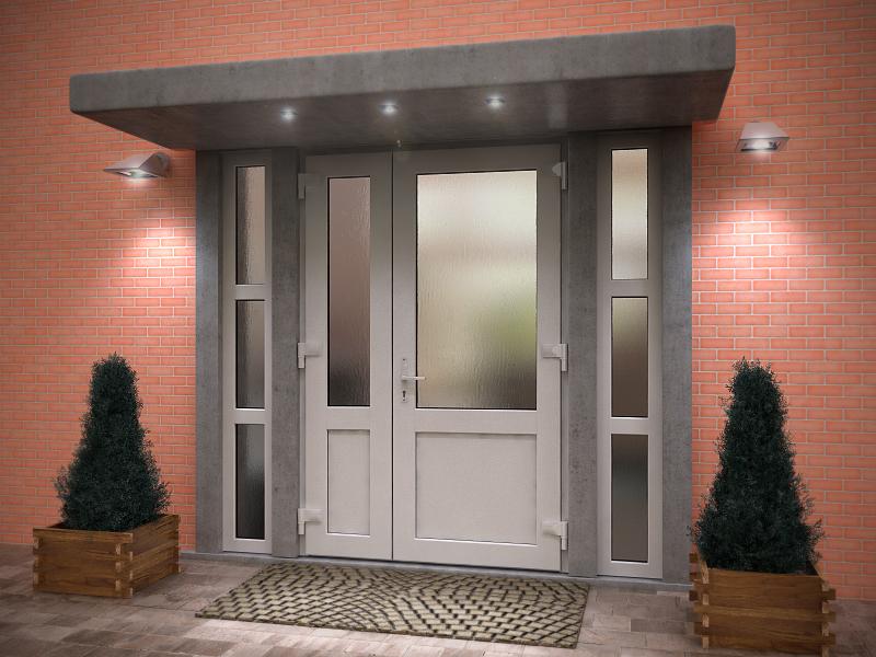 Металлопластиковые входные двери в собственном коттедже