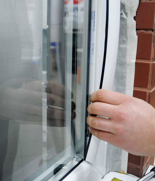 Replacing windows with plastic